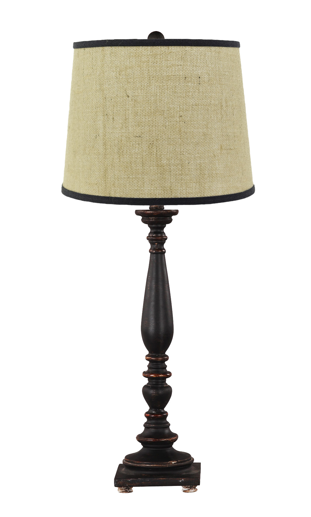 Liberty black table lamp with burlap shade l2175bk u1 for Lamp shades austin
