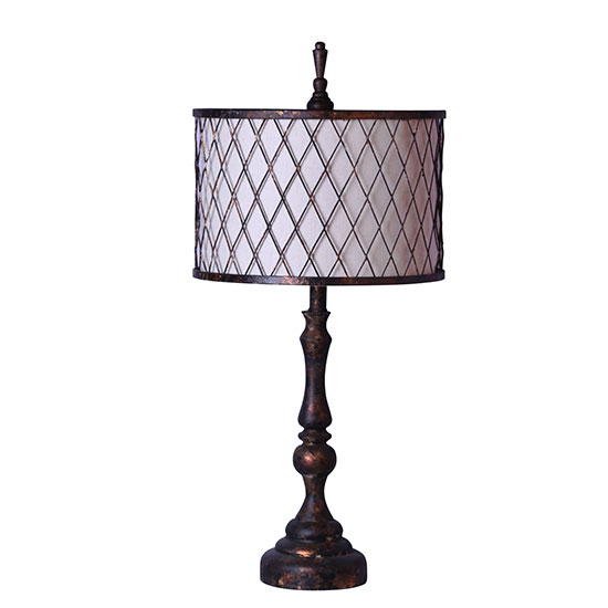 Revere 30 table lamp with mesh shade l2294bc u1 for Lamp shades austin