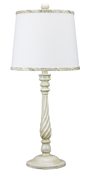 Nashville ivory 29 table lamp with brown spa trim linen for Lamp shades austin