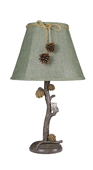 Pine Branch Owl 24 Table Lamp With